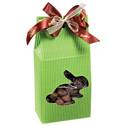 Green Corrugated Bunny Gift Box - 1 lb. Box