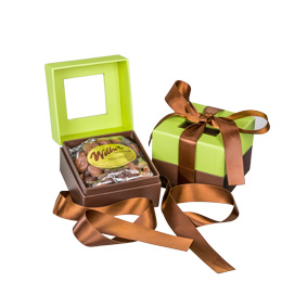 Pistachio Green and Chocolate Brown Gift Box - 8 oz. Box